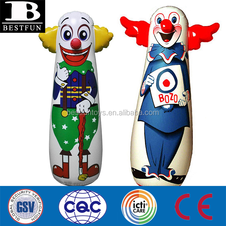 Funny Inflatable Clown Punching Bag Durable Pvc Up Kids Air Dummy Stand Boxing Toys Punch Toy Bop