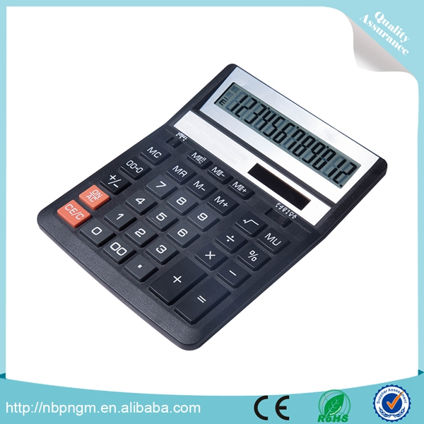 Office Home Store Use Desktop 12 Digits Marca Calculadora Electrica with Memory Function