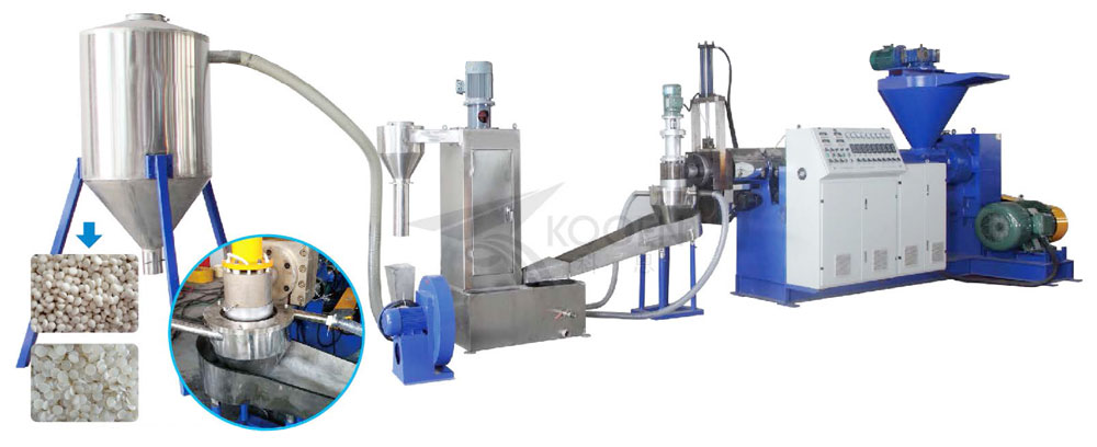 PE PP scraps recycling machine plastic granulating machine