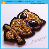 Bullion wire embroidery military hand badges/hand embroidery