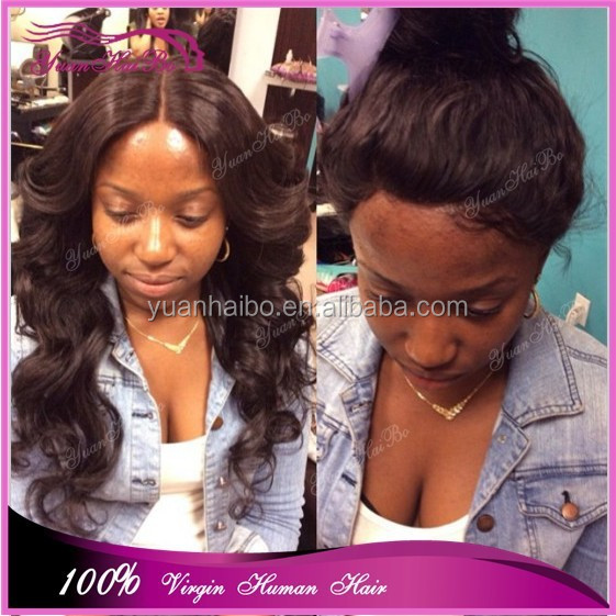 Hot Selling Unprocessed Virgin Human Hair Peruvian Lace Front Wig ...