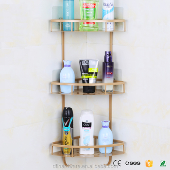 3 Tier Gold Cheap Bathroom Shampoo Rack Kitchen Shelves Buy Bathroom Rack Bathroom Corner Towel Rack Bathroom Shampoo Rack Product On Alibaba Com