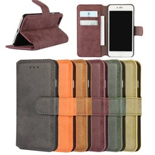 Hot Sales New Manufacturer Wholesale Price Classic Colors Matte PU Leather Wallet Case for iPhone 7,Cover for iPhone 7