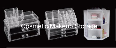Transparent Acrylic Cosmetics Storage Box Makeup Brush Organizer