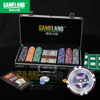 300 Pc Poker Chip Set 11.5g PS Star In Silver Aluminium Case With Round Corner