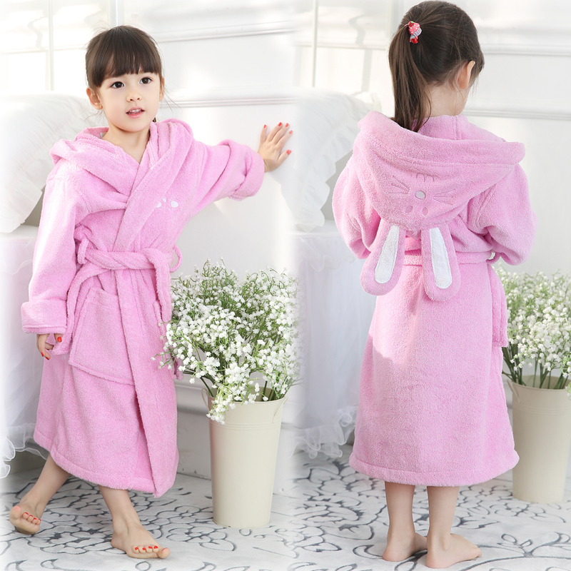 New Style Children Towel Boys Girls Unisex Cut Pile Bath Towel Cloak Kids Towel Blanket Child Cotton Bathrobe 3y-8y Baby Care Mother & Kids