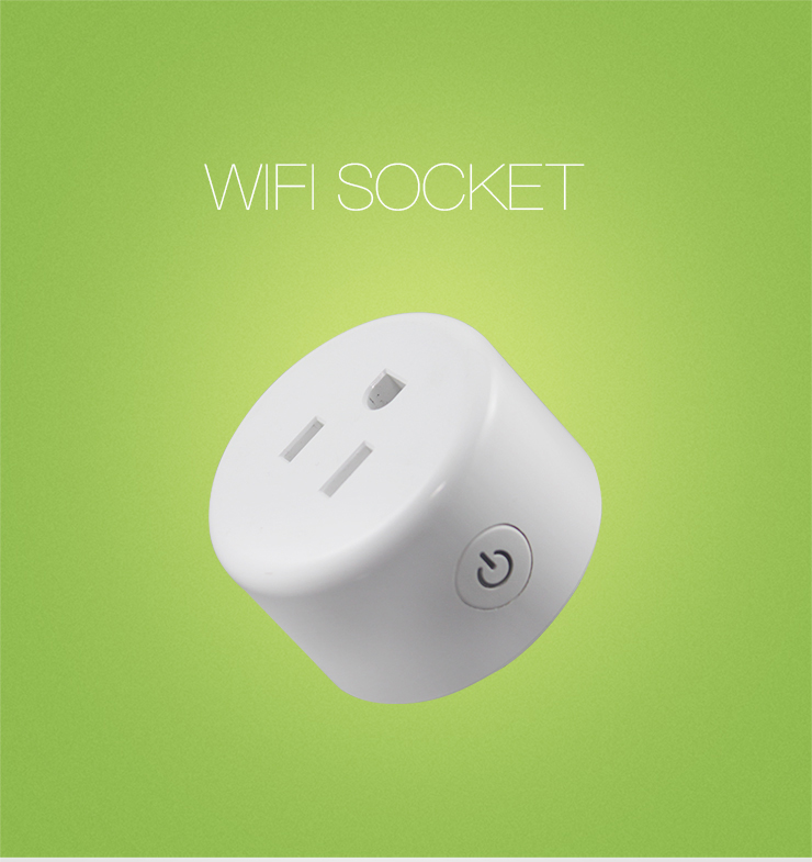 Smart WiFi Socket Mini Plug APP Remote Control Timing Socket Works with Alexa and Google Home
