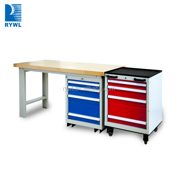 China factory iso iron work bench workshop workbench workstation with mobile tool cabinet