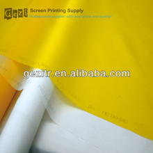 Gezi ( factory offer) 18mesh-420mesh white or yellow plain weave screen print mesh count