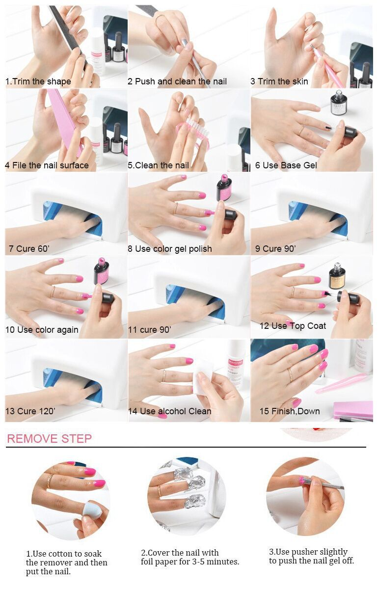 Competitive price OEM gel polish Soak off Uv Nail gel private label 3steps uv gel for nails