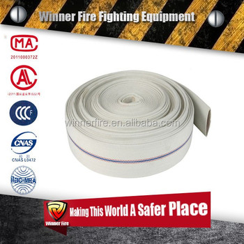 25m 10 bar white pvc fire hose