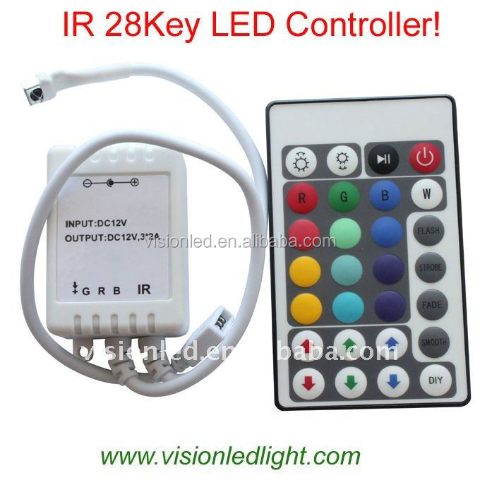 shenzhen wireless rgb led strip 44 key ir remote controller