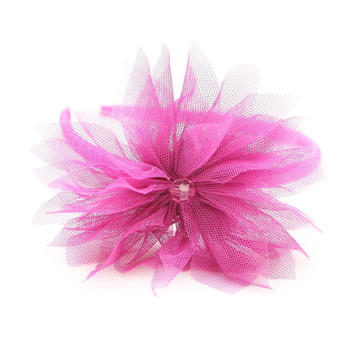Best of Chums Hair Accessories Tulle Puff Head Band (Magenta)
