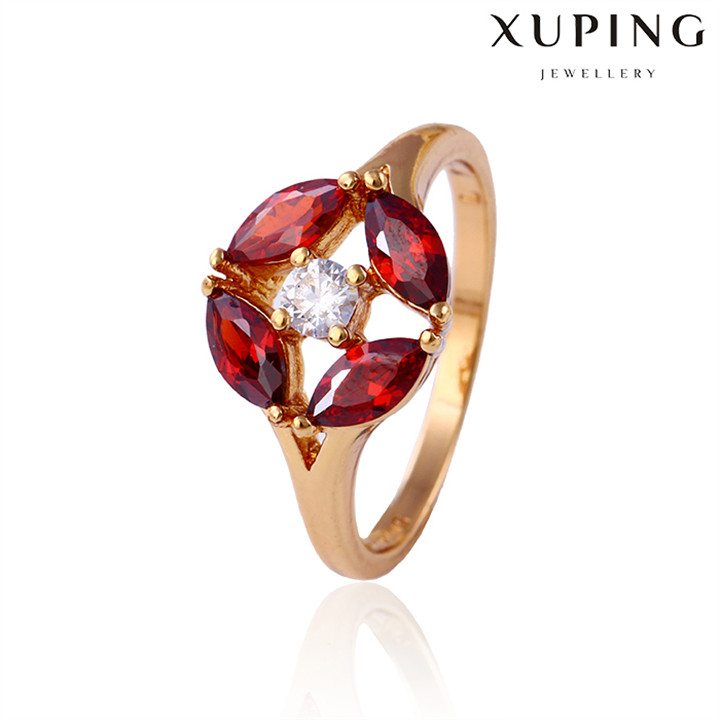 11722 Xuping newest style 18k gold plated rings for christmas gifts