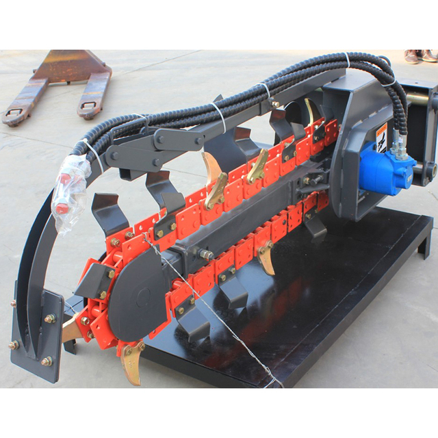 Lower price hydraulic pto chain tractor trencher machine digging