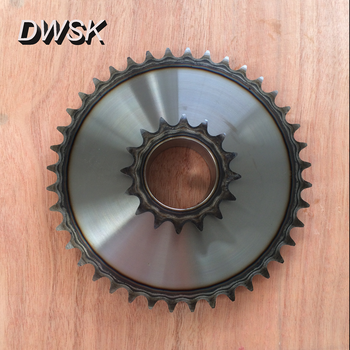 roller chain sprocket with key