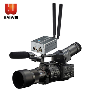 Haiwei built-in battery h.265 hevc encoder hd sdi wireless live streaming 3g 4g lte wifi ip h.265 video encoder