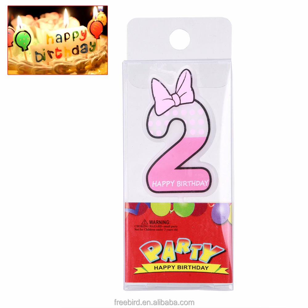 Party favors lovely colorful birthday cake number candle
