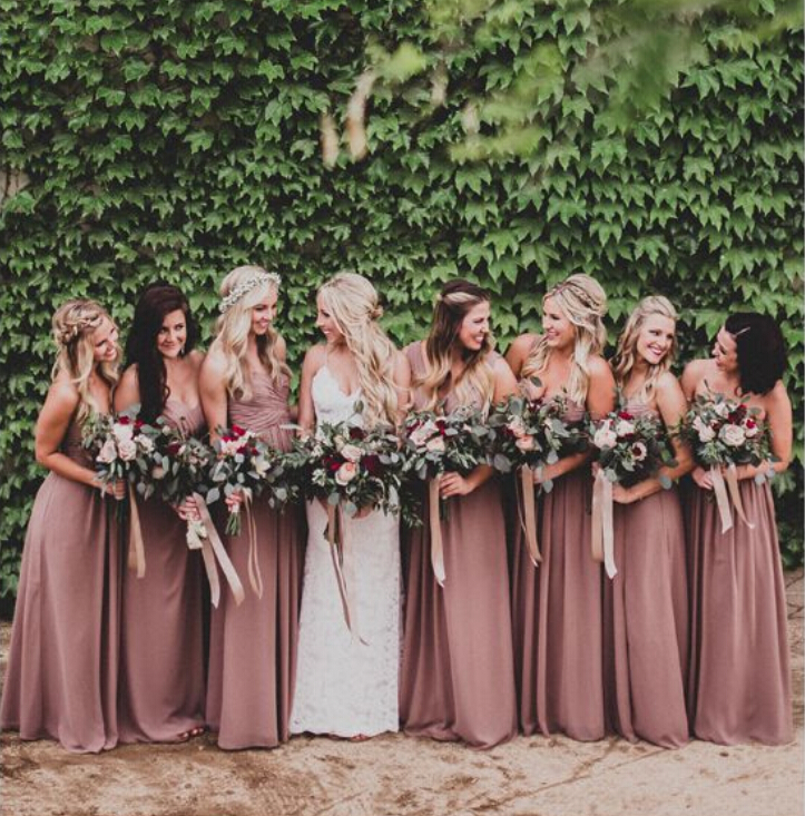 Online Get Cheap Dusty Rose Bridesmaid Dresses Aliexpress