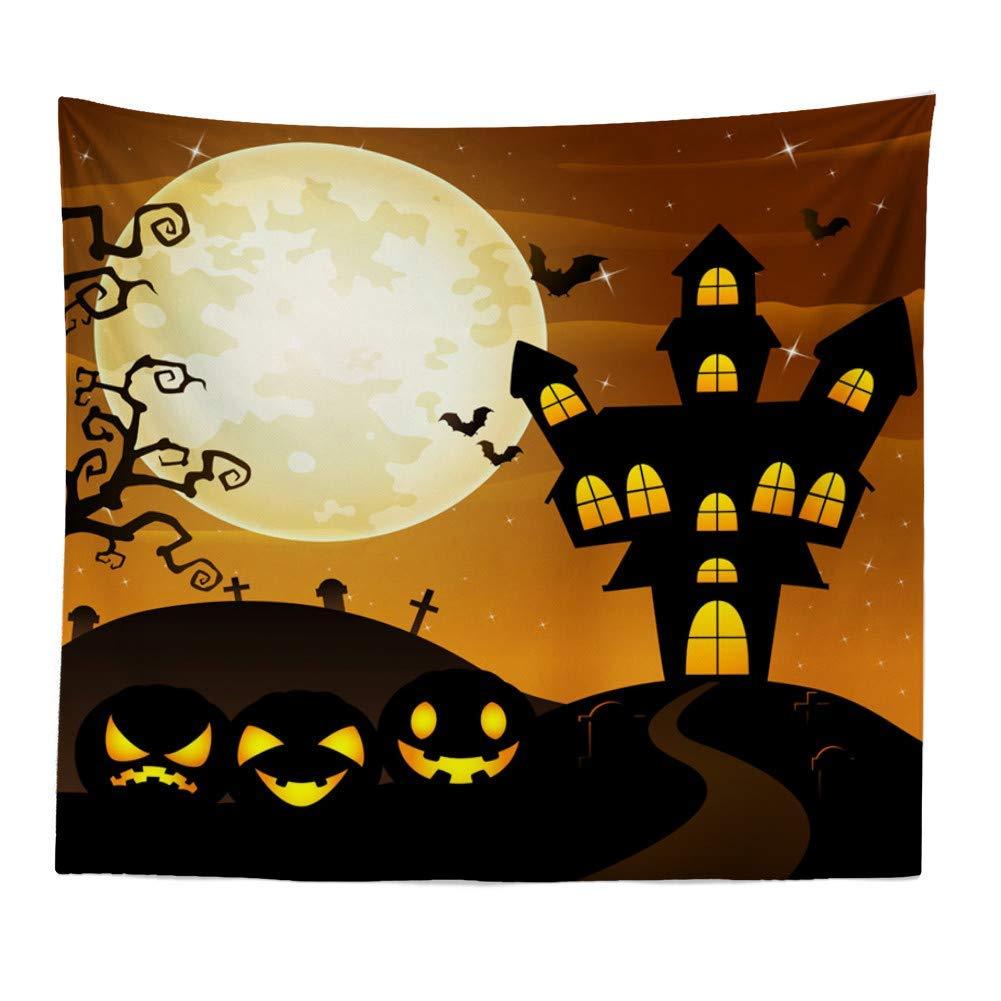 Dreamyth Christmas Xams/Halloween Pumpkin Tapestry Throw Wall Hanging Santa Claus Snow Man Blanket Home Decor