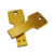 Hot Sale 8gb gold key usb stick for Promotional Gift