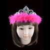 Wholesale Cheap Birthday Girl Princess Feather and Plastic Tiara Crown