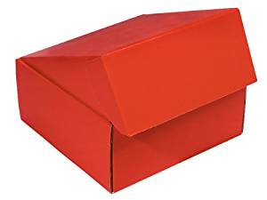 "Decorative Shipping Boxes - Red Gourmet Shipping Boxes 9x9x4"" Auto Lock Boxes - (6 Per Pack) - WRAPS - 52RE"