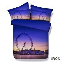Bed sheets London Eye UK 3D bedding set