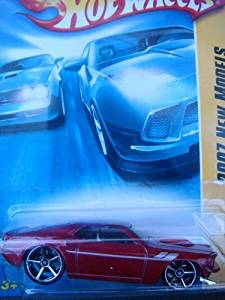 Hot Wheels '69 Ford Mustang, Red, FTE, Gray Interior, Chrome Grill #4 2007 1/64