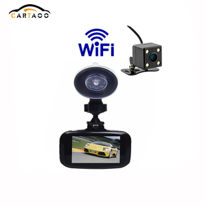 2017 new Full HD 1080P Dual Camera WIFI DVR Car Camera Vehicle Video Recorder with G-sensor