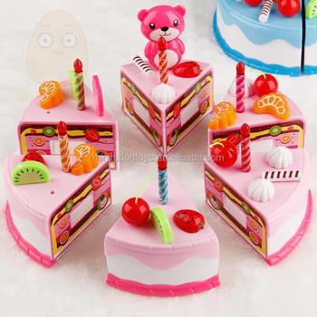 Minitudou Bermain Makanan 38 Pcs Miniatur Dapur Merah Muda Kue Ulang Tahun Mainan Anak Anak Berpura Pura Bermain Mainan Anak Anak Untuk Anak Perempuan