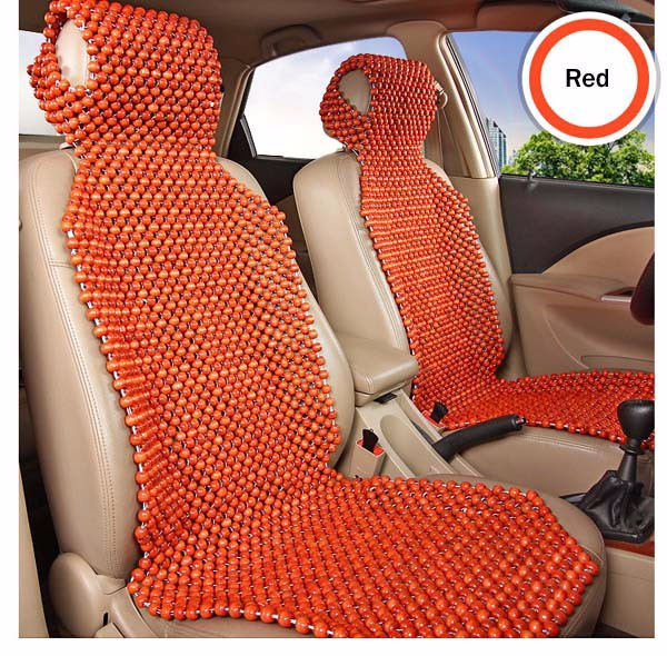 Natural Wood Wooden Beaded Massage Seat Cover Cool Cushion