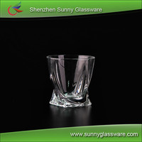 Crystal twist scotch whiskey glasses wholesale