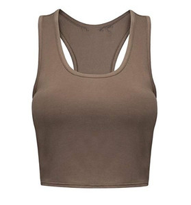 Custom Cotton/Spandex Slim Yoga Racerback Basic Crop Top Tank Top Gym Singlet Wholesale