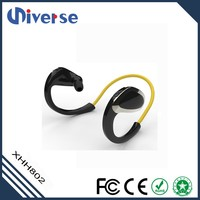 Promotional stereo earphone stereo headset sports earplug wireless headphone for iphone silicone earpiece rubber cover