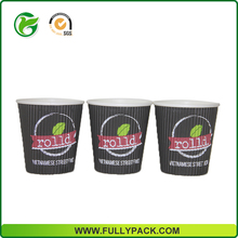 2017 New design high quality low price ripple wall coffe paper cups