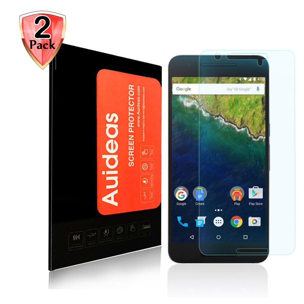 Google Nexus 6P Screen Protector,Auideas Huawei Google Nexus 6P Tempered Glass Screen Protector for Huawei Google Nexus 6P [2-Pack]