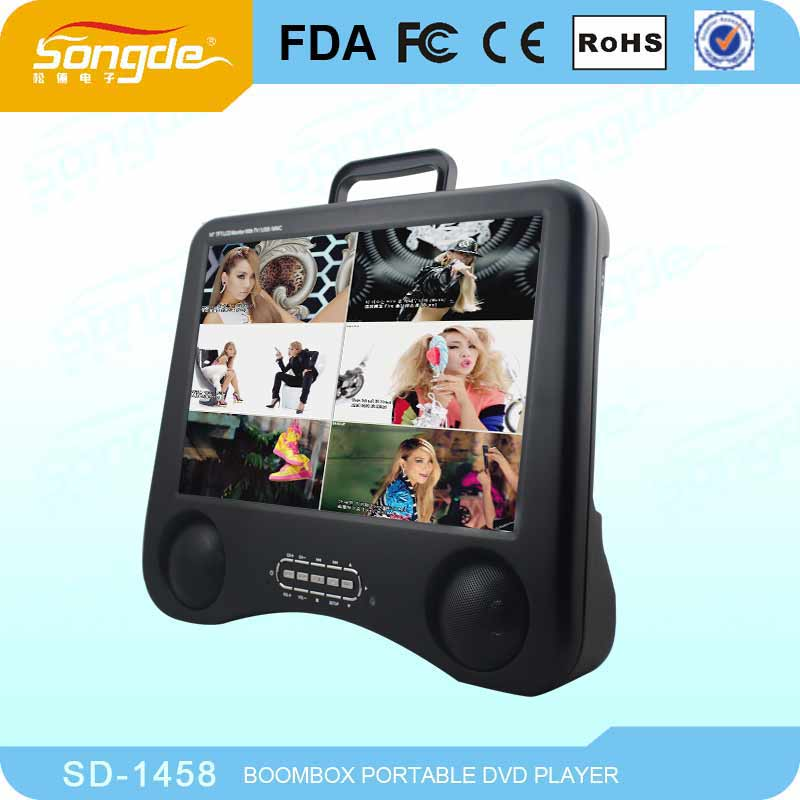 X'mas Pormotional large screen portable dvd player / portable dvd player with vga port