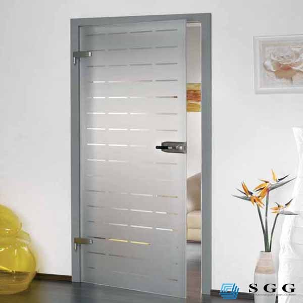 Niza dise o de interiores de vidrio esmerilado para for Puertas de madera y cristal para interiores