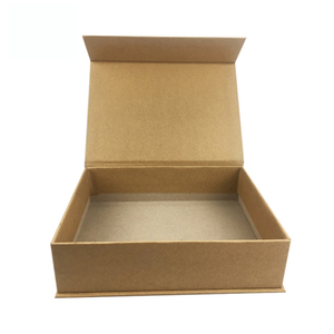 Custom print Luxury gold stamping large a6 brown kraft paper flat diy magnetic closure gift box