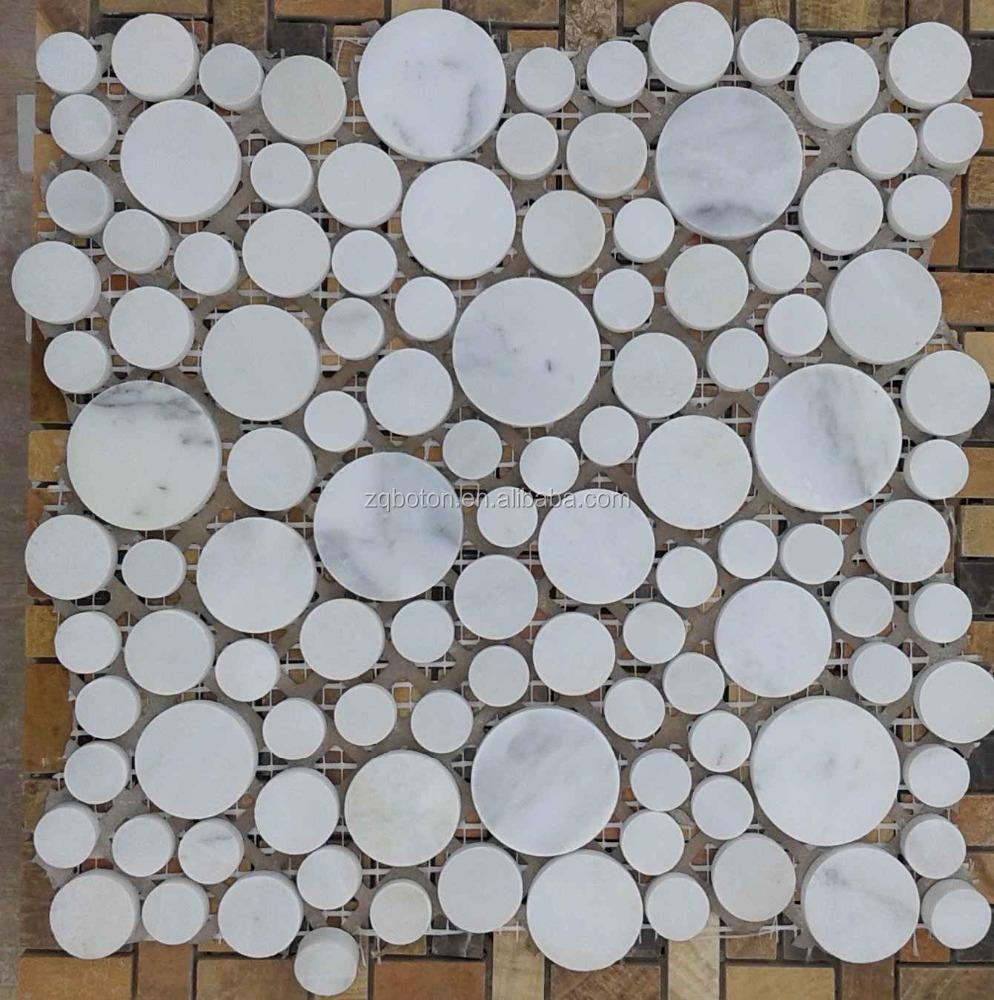 Azulejos Baño Marmol:Marmol blanco mosaico para baño pisos de baldosas o azulejo de la