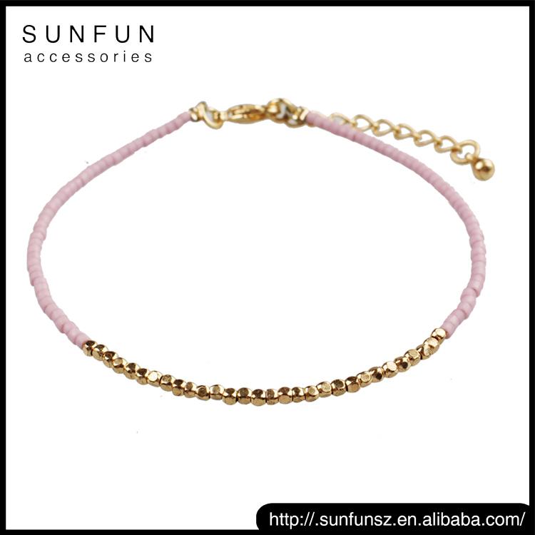 mode coloré pas cher prix À la main perle de rocaille bracelet en