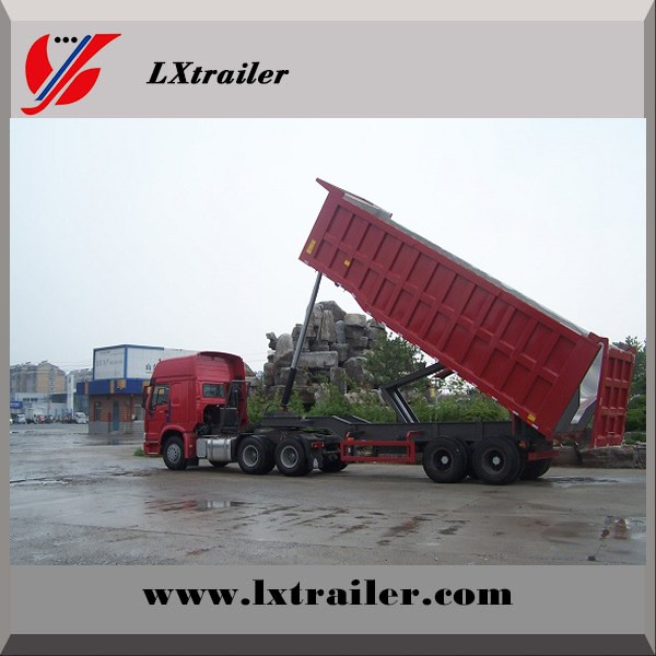 Factory hot sale low price wood / timber transport semi trailer truck