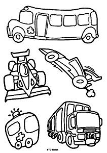Variety of vehicl DIY Coloring Stained Stickers For Kids Art and Crafts For Kids Window Clings Family Activities Fun Crafts For Kids Art Projects Removable Windows Stained Glass Decals