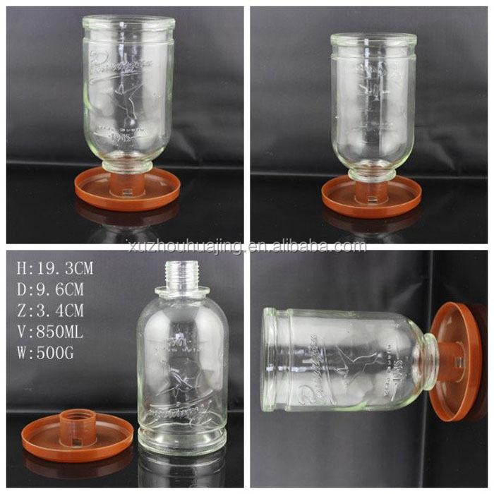 850 ml verre bouteille de mangeoire avec verre de palettes en plastique oiseaux d 39 alimentation. Black Bedroom Furniture Sets. Home Design Ideas