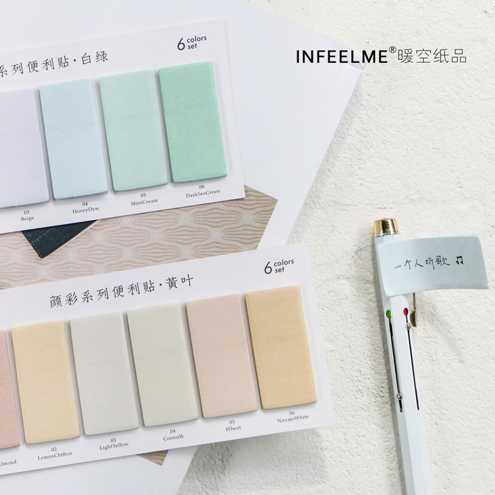 Creative Colorful Memo Pad Sticky Notes Memo Paper Index Bookmark Notebook Stationery School Office