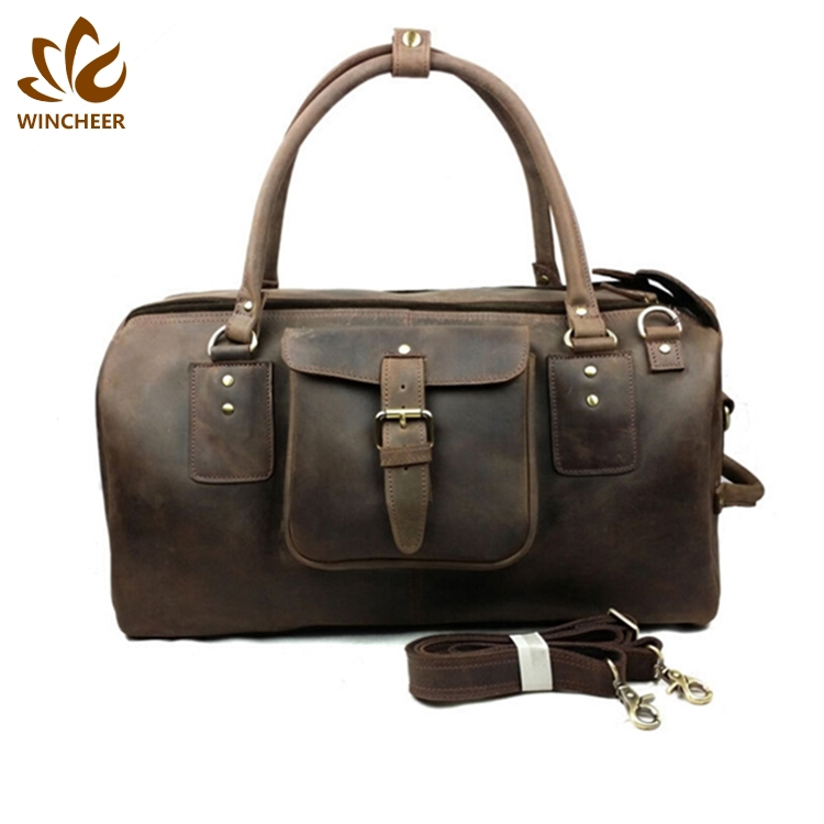 Manufacturers to provide good prices barrel gym leather duffle bags men,multifunctional travel bag