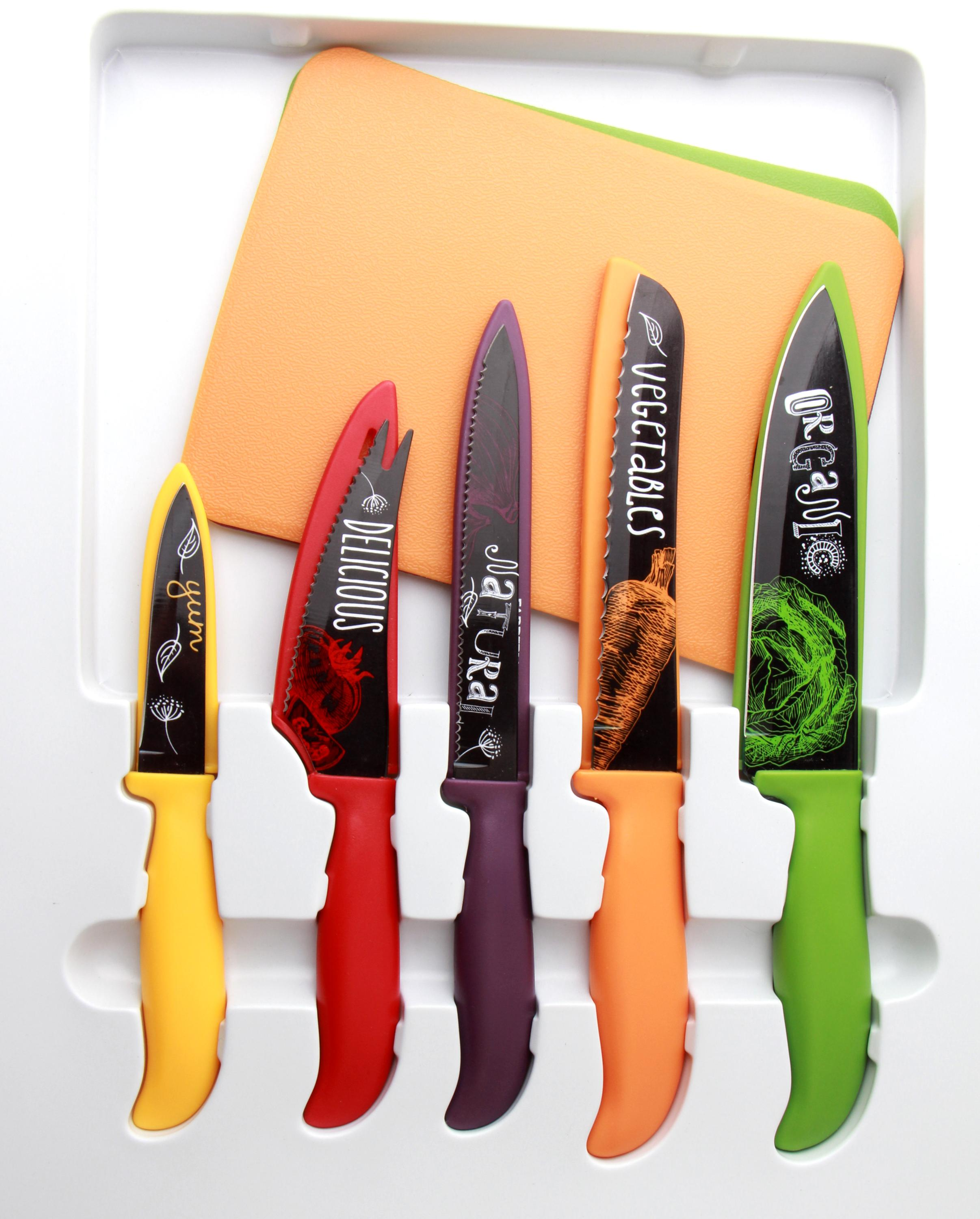 professional 5pcs stainless steel royalty line knife set with