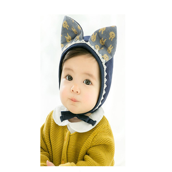 SPKD-276 newborn baby rabbit ear cap cute bucket hat with rabbit ears infant  cap 3c428b87171