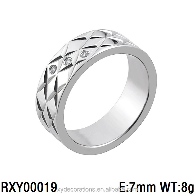 RXY00019 lastest men and women fancy jewelry ring new design 316l stainless steel custom jewelry factory price